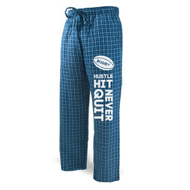 Rugby Lounge Pants Hustle Hit Never Quit