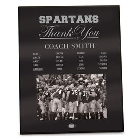 Football Photo Frame Thank You Coach Roster