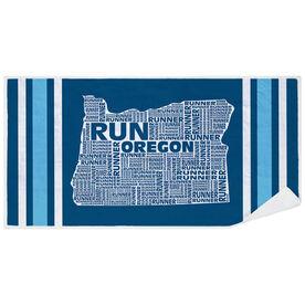 Running Premium Beach Towel - Oregon State Runner