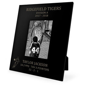 Basketball Engraved Picture Frame - Guy Player Stats