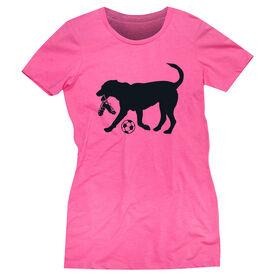 Soccer Women's Everyday Tee - Spot The Soccer Dog