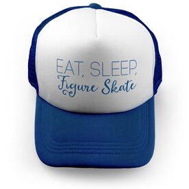 Figure Skating Trucker Hat Eat Sleep Figure Skate