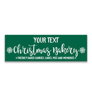 "Personalized 12.5"" X 4"" Removable Wall Tile - Christmas Bakery"