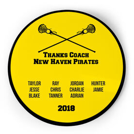 Girls Lacrosse Circle Plaque - Team Roster