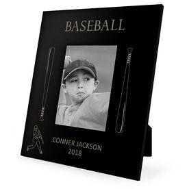 Baseball Engraved Picture Frame - Baseball Bats