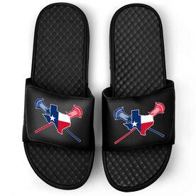 Guys Lacrosse Black Slide Sandals - Texas Lacrosse