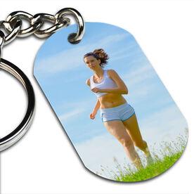 Custom Photo Printed Dog Tag Keychains