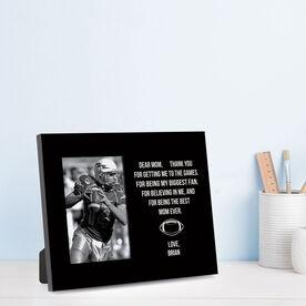 Football Photo Frame - Dear Mom Heart