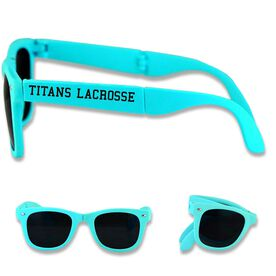 Personalized Lacrosse Foldable Sunglasses Your Team Name