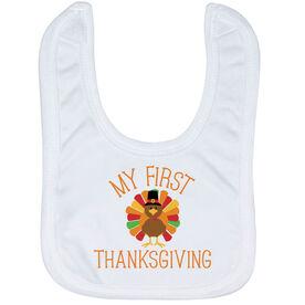 Baby Bib - My First Thanksgiving