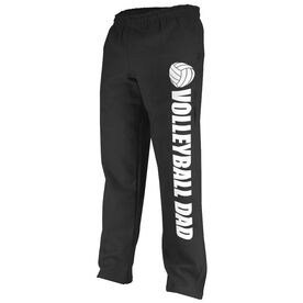 Volleyball Fleece Sweatpants Volleyball Dad with Volleyball