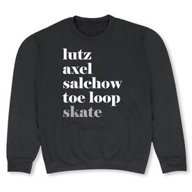 Figure Skating Crew Neck Sweatshirt - Figure Skating Mantra Skate