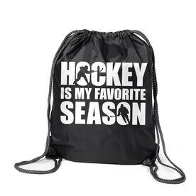 Hockey Sport Pack Cinch Sack - Hockey Is My Favorite Season