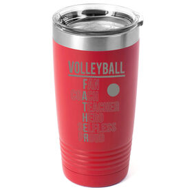 Volleyball 20 oz. Double Insulated Tumbler - Volleyball Father Words