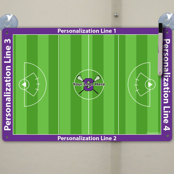 """Lacrosse Custom Dry Erase Coach Board Girls Full Field - 18"""" X 12"""""""