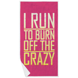 Running Premium Beach Towel - I Run To Burn Off The Crazy