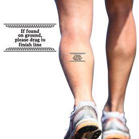 If Found On Ground... SportTATS Temporary Running Tattoo