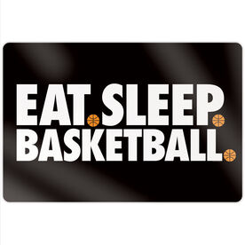 "Basketball 18"" X 12"" Aluminum Room Sign - Eat Sleep Basketball"