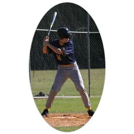 Baseball Oval Car Magnet Your Photo