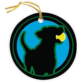 Tennis Porcelain Ornament Dog