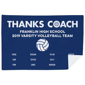 Volleyball Premium Blanket - Thanks Coach (Horizontal)