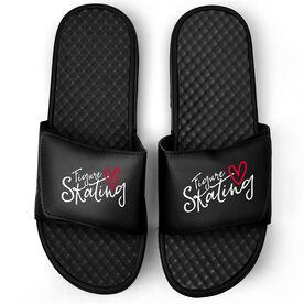 Figure Skating Black Slide Sandals - Figure Skating