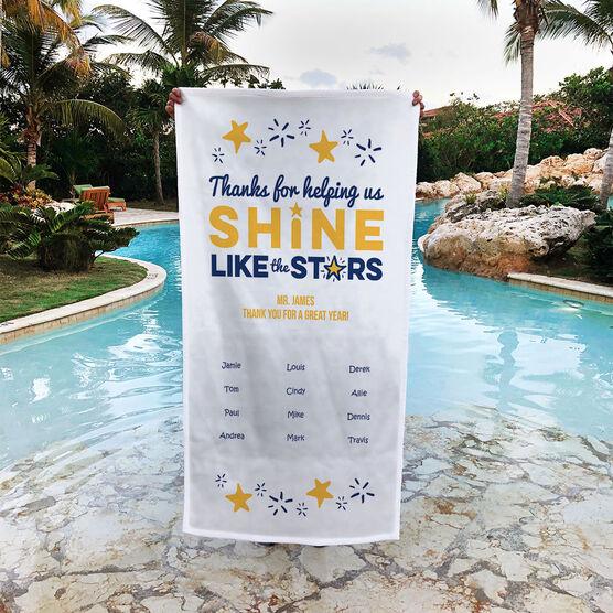 Personalized Premium Beach Towel - Teacher Shine Like Stars