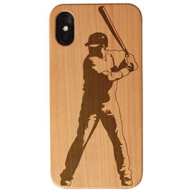 Baseball Engraved Wood IPhone® Case - Batter