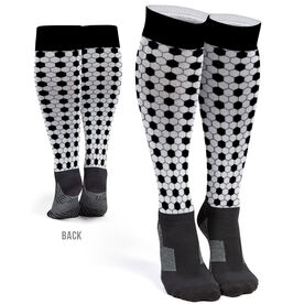 Soccer Printed Knee-High Socks - Pattern