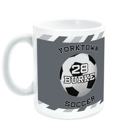 Soccer Coffee Mug Personalized Player with Ball