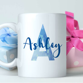 Watercolor Initial with Name Personalized Coffee Mug