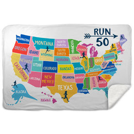 Running Sherpa Fleece Blanket - Run 50