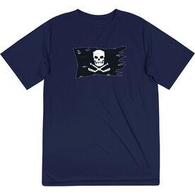 Hockey Short Sleeve Performance Tee - Hockey Pirate Flag