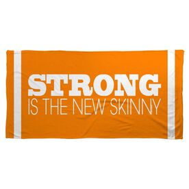 Cross Training Beach Towel Strong Is The New Skinny