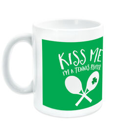 Tennis Coffee Mug Kiss Me I'm A Tennis Player