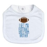 Football Baby Bib - I Get My Skills From
