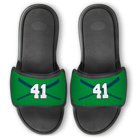 Baseball Repwell™ Slide Sandals - Crossed Bats with Numbers