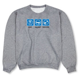 Soccer Crew Neck Sweatshirt - Eat Sleep Soccer