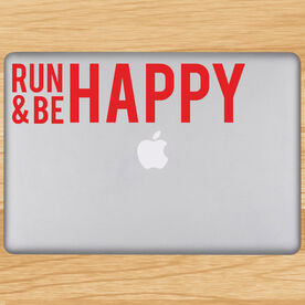Run And Be Happy Removable GoneForaRunGraphix Laptop Decal