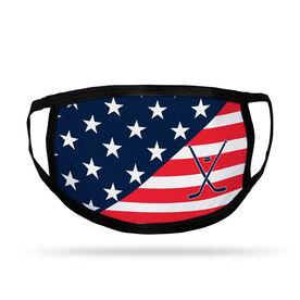Hockey Kids Face Mask - USA Flag
