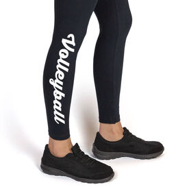 Volleyball Leggings - Volleyball Script (Small)