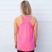 Softball Flowy Racerback Tank Top - Eat Sleep Softball