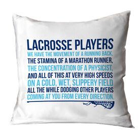 Girls Lacrosse Decorative Pillow - Lacrosse Players