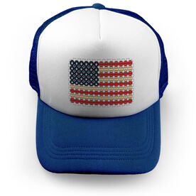 Baseball Trucker Hat - Flag