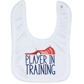 Guys Lacrosse Baby Bib - Player In Training