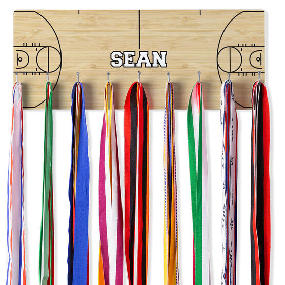 Basketball Hooked on Medals Hanger - Court