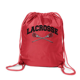 Lacrosse Crossed Sticks Sport Pack Cinch Sack