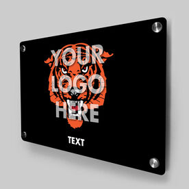 Personalized Metal Wall Art Panel - Custom Logo Horizontal