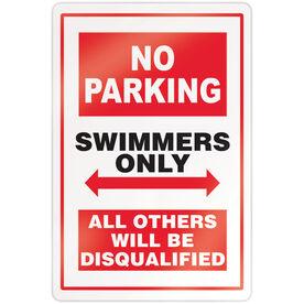 "Swimming 18"" X 12"" Aluminum Room Sign - No Parking Sign"