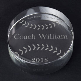 Softball Personalized Engraved Crystal Gift - Custom Ball